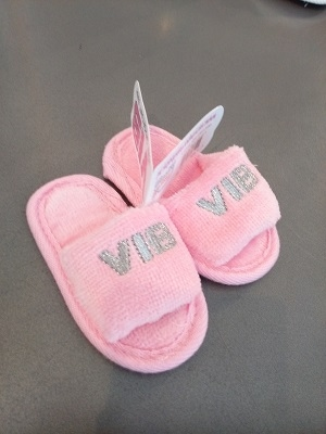 Baby slippers roze