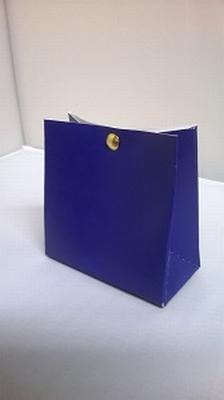 Breed tasje fel dark blue - € 0,80 /stuk - vanaf 10 stuks