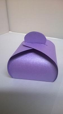 Bonbondoosje metalic paars - € 0,80 /stuk - vanaf 10 stuks