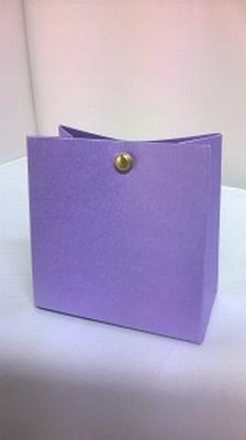 Breed tasje metalic paars - € 0,80 /stuk - vanaf 10 stuks