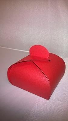 Bonbondoosje metalic rood - € 0,80 /stuk - vanaf 10 stuks