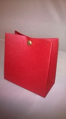 Breed tasje metalic rood - € 0,80 /stuk - vanaf 10 stuks