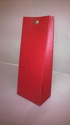 Laag tasje metalic rood - € 0,80 /stuk - vanaf 10 stuks