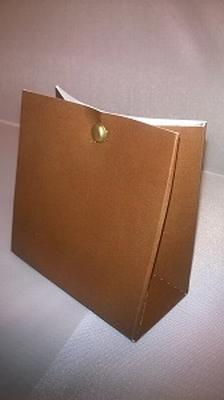 Breed tasje licht bruin - € 0,80 /stuk - vanaf 10 stuks