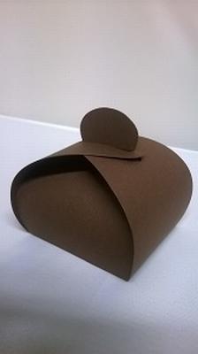 Bonbondoosje donker bruin malmero tourbe €0,80/st vanaf10st