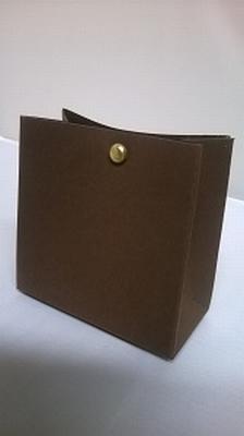 Breed tasje donker bruin malmero tourbe - €0,80/st vanaf10st