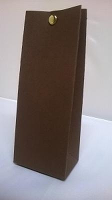 Laag tasje donker bruin malmero tourbe - €0,80/st vanaf 10st