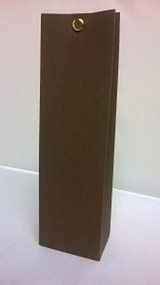 Hoog tasje donker bruin malmero tourbe - €0,80/st vanaf10st