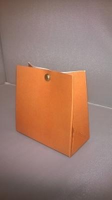 Breed tasje appelsien oranje - € 0,80 /stuk - vanaf 10 stuks