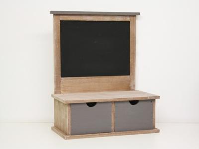 Bord met 2 schuiven hout