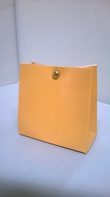 Breed tasje licht oranje - € 0,80 /stuk - vanaf 10 stuks
