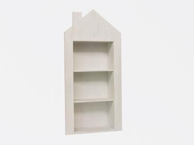 Huisje hout wit 3 verdiepen