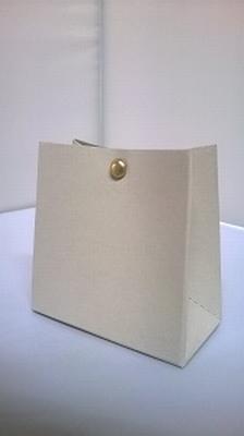 Breed tasje licht taupe tube- € 0,80 /stuk - vanaf 10 stuks