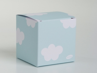Giraf blauwe kubus wolk