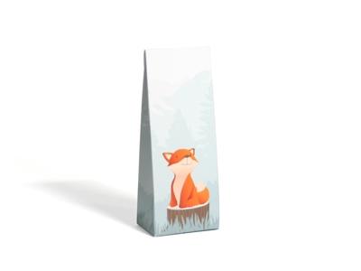 Cesar Fox oranje laag tasje met klepje (24 stuks)