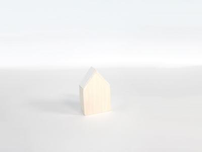Naturalplus huisje klein wit (12 stuks)