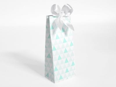 Naturalplus mint driehoek patroon hoog tasje (24 stuks)