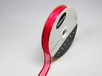Luxe voile rood 15 mm 25 meter