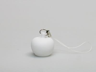 Pom wit sleutelhanger mini (24 stuks)
