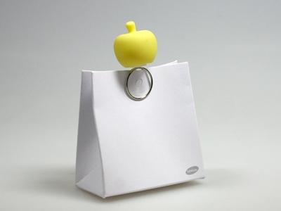 Pom soft yellow decoclip (24 stuks)