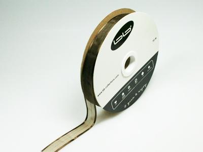 Luxe voile bruin 15 mm 25 meter