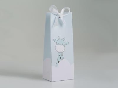 Giraf blauw laag tasje