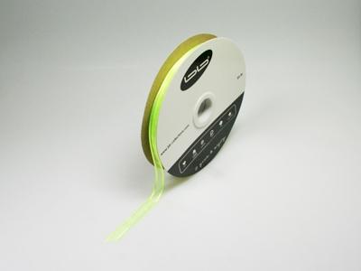 Luxe voile limoen groen 10 mm 25 meter