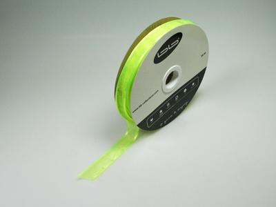 Luxe voile limoen groen 15 mm 25 meter