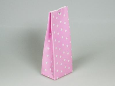 Sterretjes roze laag tasje