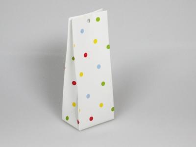 Stippen wit kleur laag tasje