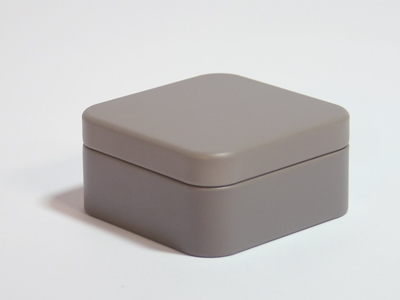Taupe blik vierkant (24 stuks)