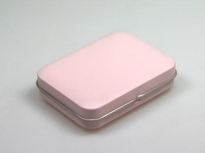 Roze blik rechthoek (24 stuks)