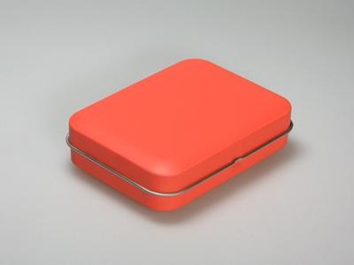 Oranje blik rechthoek (24 stuks)