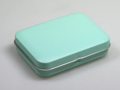 Aqua blik rechthoek (24 stuks)
