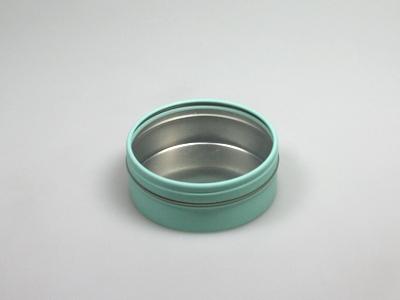 Aqua blik rond doorzichtig deksel (24 stuks)