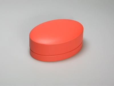 Oranje blik ovaal (24 stuks)