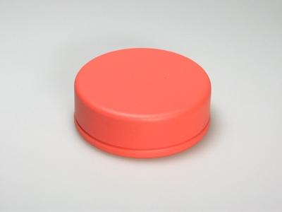 Oranje blik rond (24 stuks)