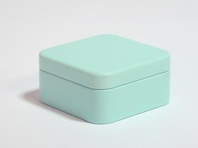 Aqua blik vierkant (24 stuks)