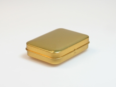 Goud blik rechthoek (24 stuks)