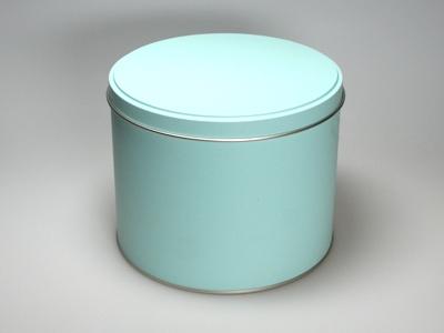 Aqua blik hoog ronde doos large (2 stuks)