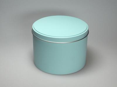 Aqua blik hoog ronde doos medium (2 stuks)