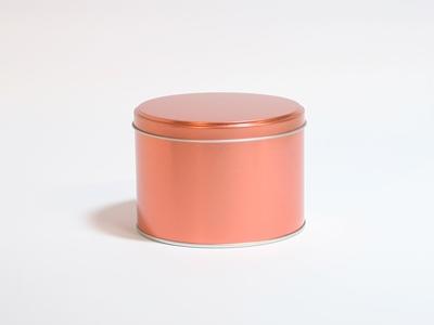 Koper blik hoog ronde doos small (2 stuks)