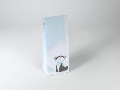 Cesar Fox warm grey laag tasje met klepje (24 stuks)