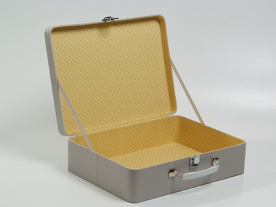 Inside out travel case mastique geel patroon