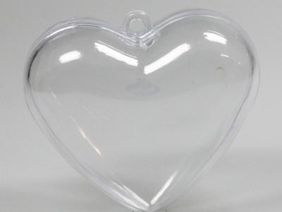 Plexi hart helder 8 cm (24 stuks)