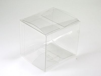 Pet vierkant doosje 8,2x7,2x7,5 cm (24 stuks)
