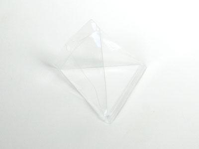 Pet piramide doosje 8x8x8,5 cm (24 stuks)