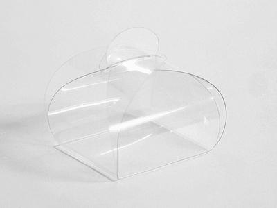 Pet bonbon doosje 6,5x6x6 cm (24 stuks)