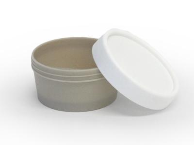 Pet potje grijs schroefdeksel wit (24 stuks)