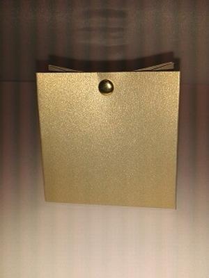 Breed tasje donker blink goud - €0,80 /st - vanaf 10 st